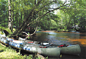 Canoes at Winding River Campground