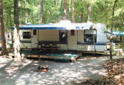 Rental Trailer at Winding River Campground